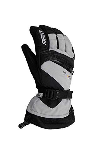 Swany SX-80M Men's X-Change Glove, Light Grey/BLack - L
