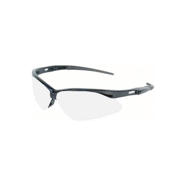 Jackson 3000355 KC 25679 Nemesis Safety Glasses Black Frame Clear Lens Anti Fog, 1 Pair 1