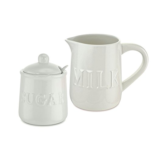 KOVOT Ceramic Cream and Sugar Set - Includes 12 oz Sugar Jar & 32 oz Creamer/Milk Jug ()