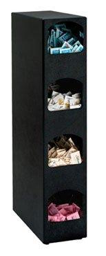 Dispense-Rite HVCD-4BT Four Compartment Countertop Vertical Condiment Organizer by Dispense Rite