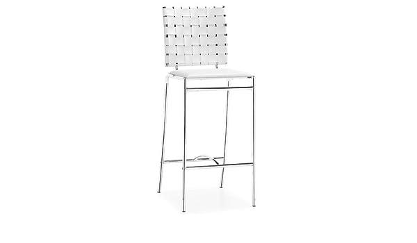 Enjoyable Amazon Com Zuo Criss Cross Counter Stool Kitchen Dining Lamtechconsult Wood Chair Design Ideas Lamtechconsultcom