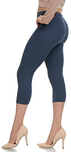 Lush Moda Extra Soft Leggings - Variety of Colors - Plus Size - Charcoal (Best Workout To Tone Buttocks)
