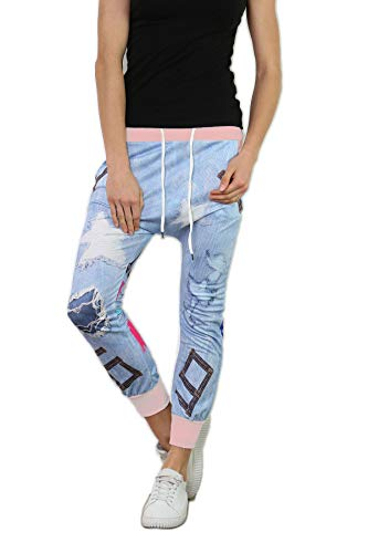 si moda Pantalón - Tiro Caído - para Mujer Rosa