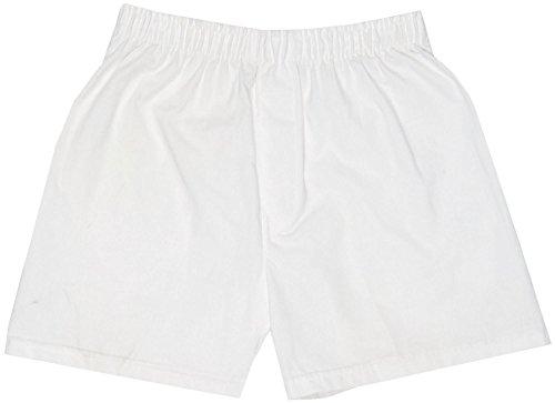 Boxercraft Women's Woven Cotton Boxer Sleep Shorts, Xlarge, White (Madras Boxers)