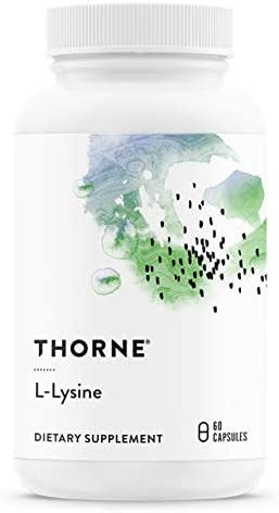Thorne Research – L-Lysine – Essential Amino Acid for Skin Health, Energy Production, and Immune Function – 60 Capsules