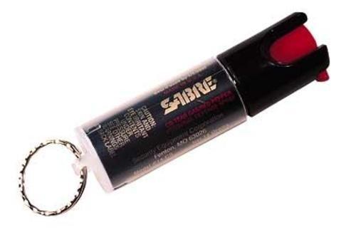 Sabre KR-14 Key Ring Unit Self Defense Spray 3-in-1 Formula 0.54 oz. 25 Shot