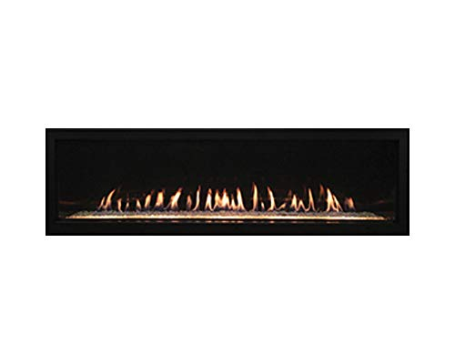 "Empire Boulevard Direct Vent Linear Fireplace 48"" Natural Gas with Matte Black Liner"