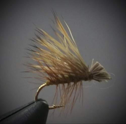 1 Dzn - Olive Elk Hair Caddis - Dry Fly Trout Fly Fishing Flies Lures Strong Fish Hooks for Trout