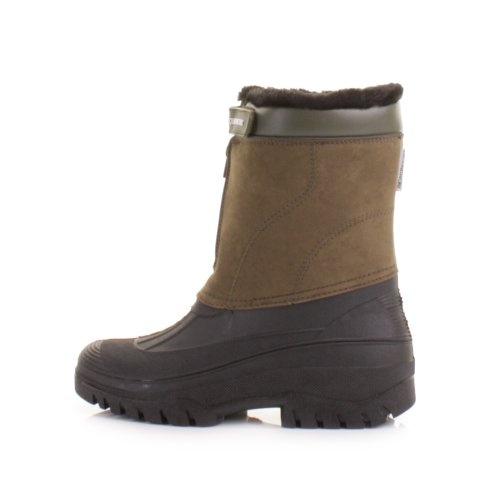 Herren Warme Stiefel Khaki Winter in Wellies Yard Größe für aqRqX