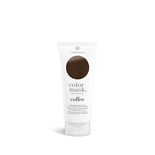 Color Mask Coffee Reconstructive Treatment - Toning Conditioner for Dark Brown Hair - Removes Brassiness - 6.76 oz (Best Toner For Brown Hair)
