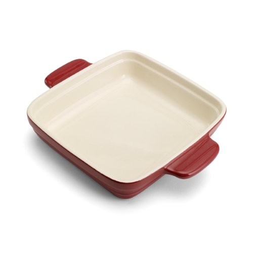 Pedrini Square Ceramic Baker (9 x 9-Inch, Red) by Pedrini (Image #2)