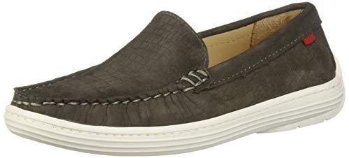 MARC JOSEPH NEW YORK Unisex-Kid's Leather Boys/Girls Casual Comfort Slip On Moccasin Venetian Loafer Driving Style, Brown Crocodile Nubuck, 4.5 Big Kid M US Little Kid