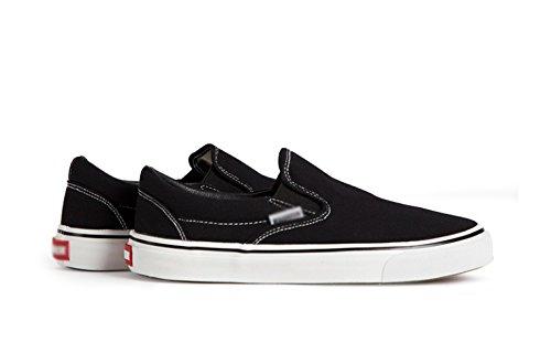 studente primavera di pedale scarpe pigro da uomo stoffa di blackA008T Scarpe un WFL scarpe uomini scarpe casual tela nere scarpe scarpe OXwqStx