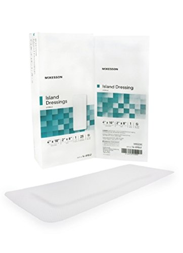 (McKesson Adhesive Island Dressings Poly/Rayon Blend 4 X 10 Inch Rectangle - Box of 25 by McKesson )