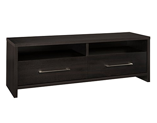 ClosetMaid 1663 Media Stand with 2 Storage Drawers, Black Walnut -