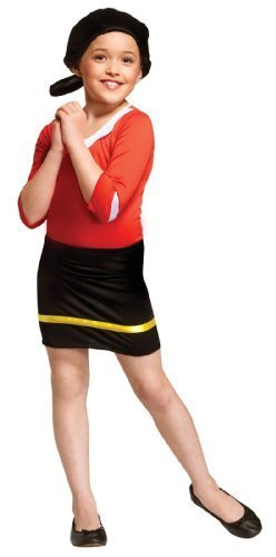 Olive Oyl Costume - Medium (Olive Oyl Fancy Dress)