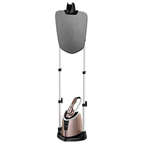 SALAV Iron Professional Clothes Steamer with Vertical Steaming & Dry Ironing Function, 180 Degree Adjustable Ironing Board, 1800W, 1.2L, Control on Steam Handle, Rose Gold, ST-50 ()