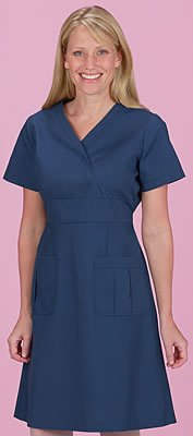 Marvella By White Cross Women's A-Line Scrub Dress Small Navy