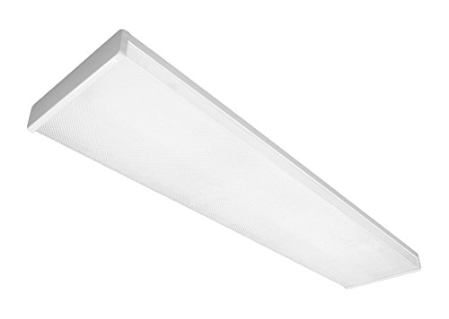 NICOR Lighting 4 Ft. High-Output Dimmable 3000K LED Wraparound with Prismatic Acrylic Lens (ACW-20-4H-UNV-30K)