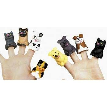 Two Dozen Cat and Dog Finger Puppets (1-Pack of 24)