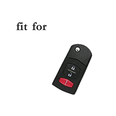 SEGADEN Silicone Cover Protector Case Skin Jacket fit for MAZDA 3 Button Flip Remote Key Fob CV2532 Gray: Automotive