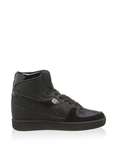 Diadora  Mi Basket Zp, Damen Sneaker schwarz Schwarz EU 36.5 (UK 4)
