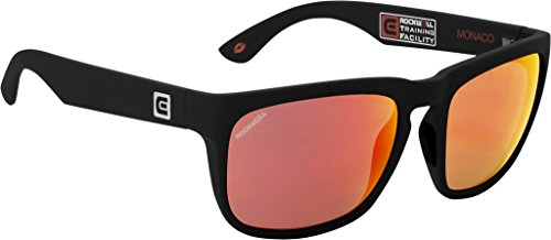 Rockwell Time Monaco Sunglasses, Black Matte/Flash Red - Rockwell Sunglasses