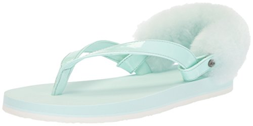 UGG Girls K Laalaa Flip-Flop, Aqua, 13 M US Little Kid