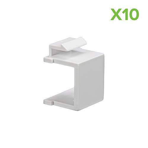 - NavePoint Blank Keystone Adapter White 10-pack