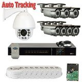 GW Security PTZ Zoom Camera System w/ High Speed Security PTZ Camera IR Night Vision by GW