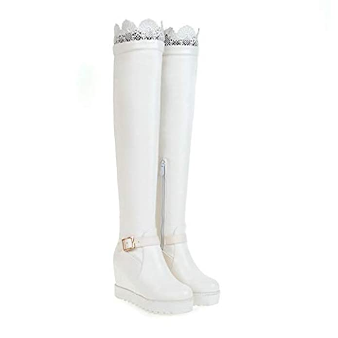 Bottom Boots The Over High Internal Increase Knee Thick Long Women's