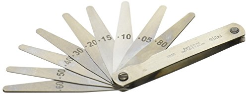 Metric Feeler gage Set 75mm Blades x 10 - Moore and ()