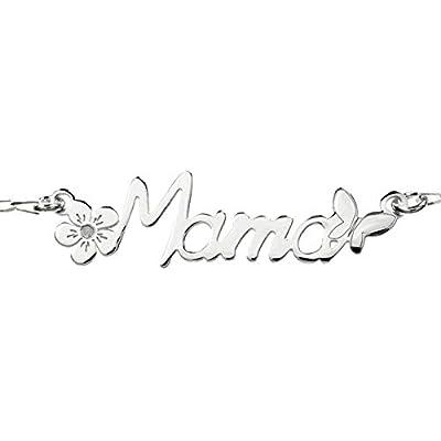 Collar Mamá Plata de Ley con flor y mariposa - Collar Día de la Madre plata