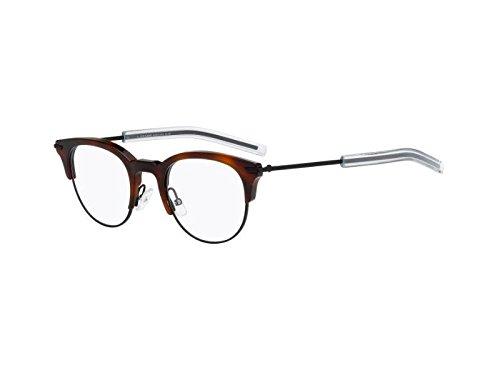 - Christian Dior Homme Eyeglasses 0202 G60 Havana Black Frame 49-22-145