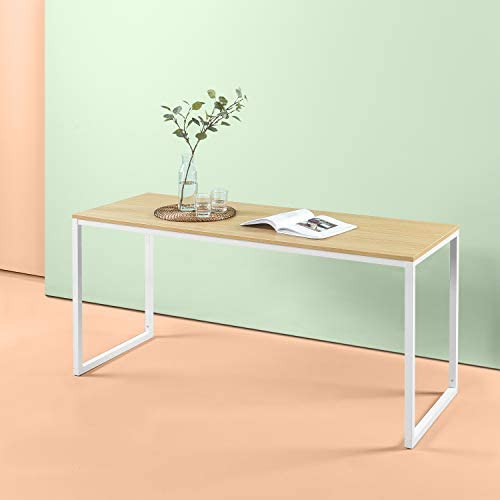 Zinus Jennifer Modern Studio Collection Soho Rectangular Dining Table Table Only Office Desk Computer Table, White