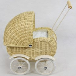 Regal Doll Carriages German Doll Carriage Blonde Wicker Furniture