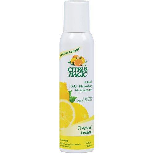 Citrus Magic Natural Odor Eliminating Air Freshener Spray, Tropical Lemon, 3.5-Ounce (Pure Air Lemon Freshener Citrus)