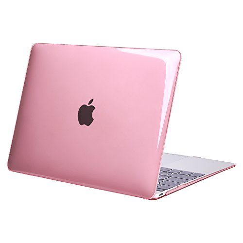 MOSISO Plastic Hard Shell Case Cover Compatible MacBook 12 Inch Retina Display Model A1534 (Version 2017/2016/2015), Crystal Pink