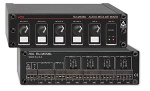 RDL RU-MX5ML 5 Channel Mic/Line Audio Mixer with Phantom Power by Radio Design Labs