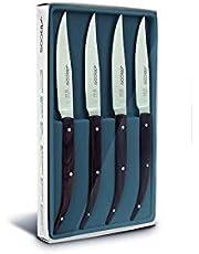 Arcos 807010 Juego de cuchillos de mesa, Acero_Inoxidable, marrón
