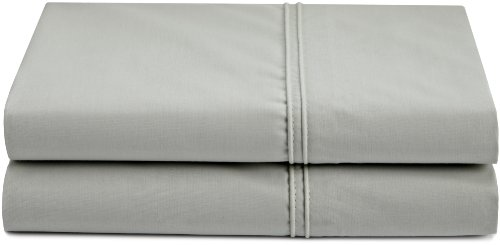 Calvin Klein Home Briar Double Row Cord King Pair Pillowcases, Pale Gray (Case Pillow Percale 220)