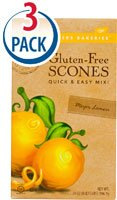 Sticky Fingers Bakeries Gluten-Free Meyer Lemon Scone Mix, 14 Ounces (3 Pack) - Gluten Free Scone