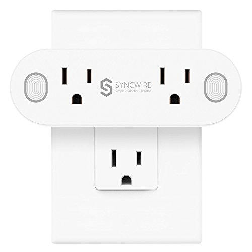 - Syncwire [2 in 1] Mini Wi-Fi Smart Plug, [Dual Sockets, 16A Max Load] Smart Outlet with Timing and Energy Monitoring Function, Compatible with Amazon Alexa/Google Assistant/IFTTT - ETL Listed