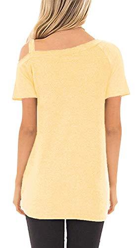 SAMPEEL Women's Cold Shoulder T Shirts Twist Knot Tunics Tops 3