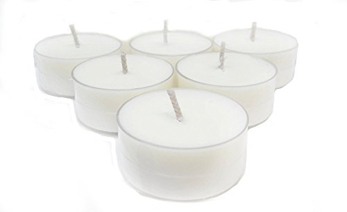 Soy Tea lights - 100 Handmade Small White Vegan Unscented Tealight Candles - Hand Poured