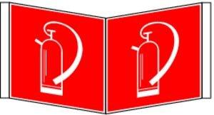 0722. ángulo Cartel extintor F 005 - Aluminio brandsc Win ...