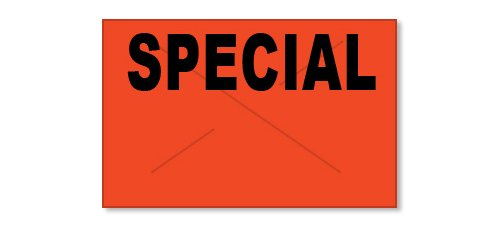 Garvey Products Gx2516 Red/Black ''SPECIAL'' Label (2516-10390), 8 Rolls per Sleeve by Garvey Products