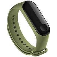 Kyver Silikon Kordon Kayış Mi Band 3 - Mi Band 4 Akıllı Bileklik Uyumlu (Mint Yeşili)
