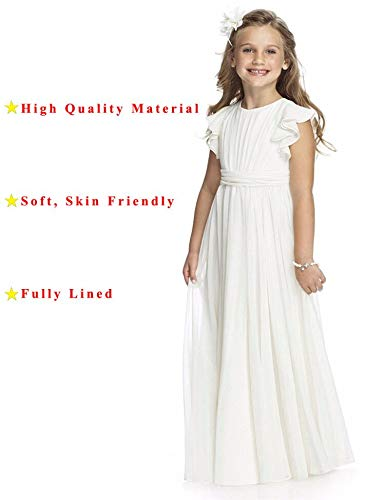 Castle Fairy Girls Holy Communion Long Gowns Pageant Junior Bridesmaid Evening Dresses 08 White -