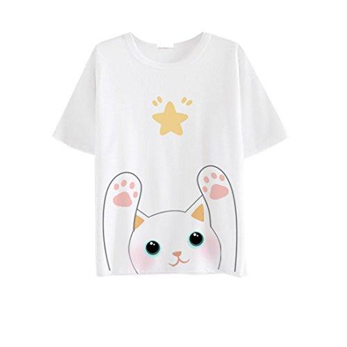 AnimeTown Japanese Cat Game Nekoatsume Costume Short Sleeves Tee T-shirt (M, WT-7) - Crayon Costume Uk